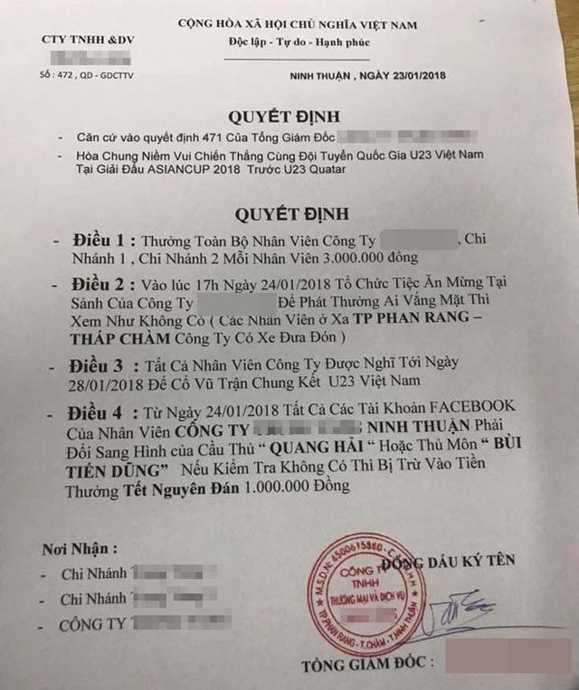 """Chuẩn """"sếp soái ca"""" của năm: Bao trọn gói nhân viên đi Trung Quốc cổ vũ U23"""