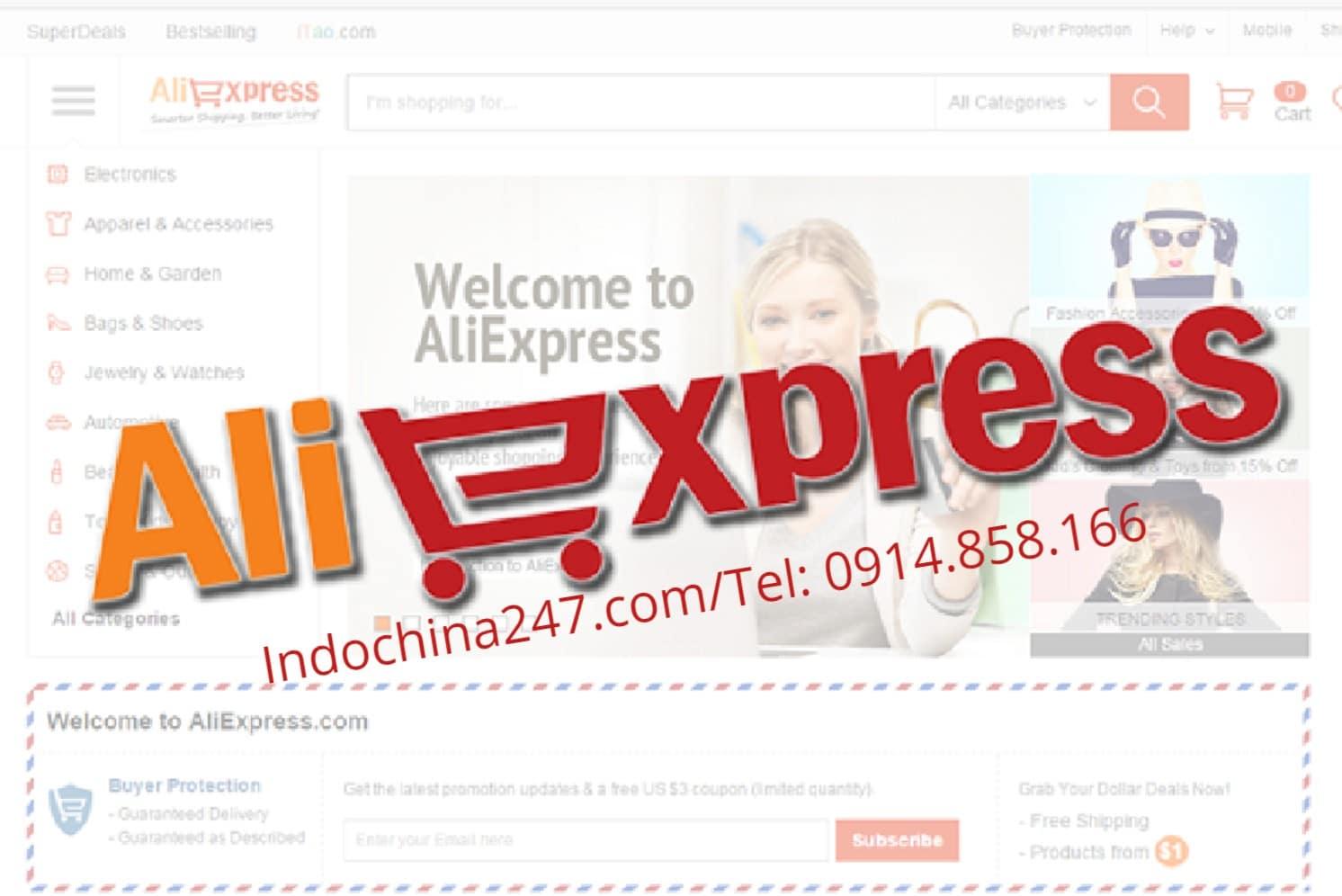 Nhận order đặt mua hàng và vận chuyển từ trên Aliexpress.com