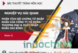 Slide:Phân tích bộ chứng từ nhập khẩu của Công ty CP TM&XNK Hải Bình