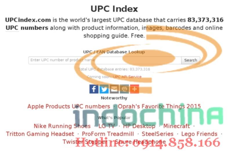 Check mã code sản phẩm