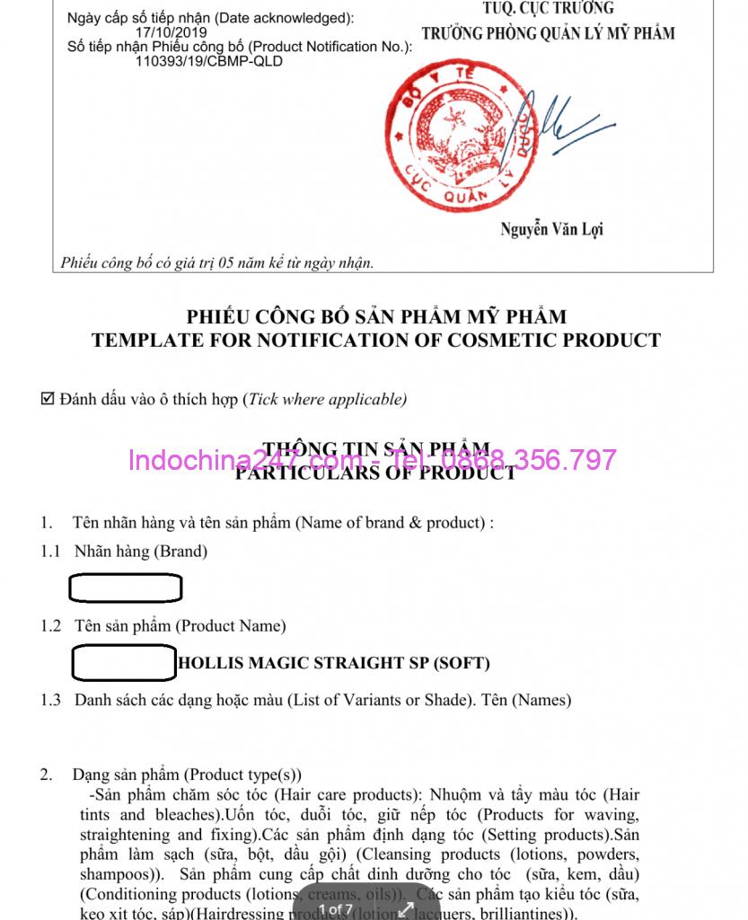Công ty chuyên vận chuyển xuất nhập khẩu mỹ phẩm - thuốc uốn tóc từ Hàn Quốc.