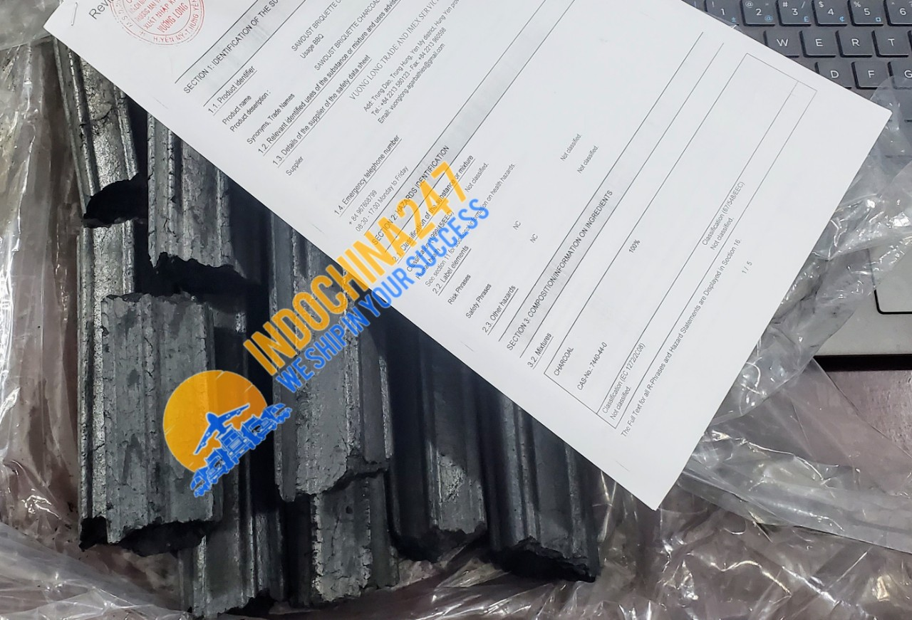 Sawdust charcoal express delivery services to the UAE